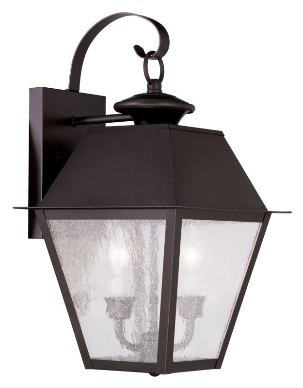 Livex Lighting 2165 Mansfield Medium Outdoor Wall Sconce with 2 Lights