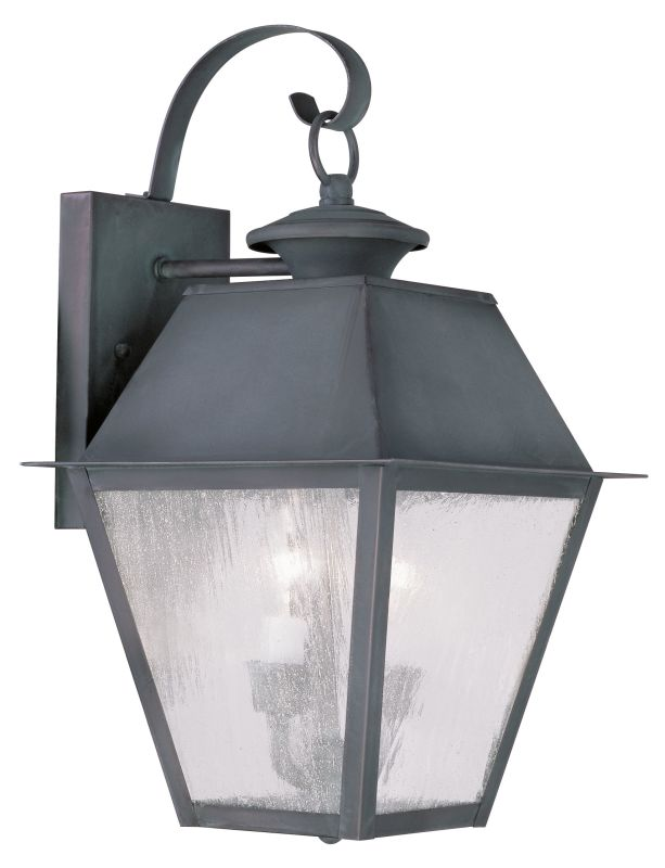 Livex Lighting 2165 Mansfield Medium Outdoor Wall Sconce with 2 Lights Sale $259.90 ITEM: bci2069186 ID#:2165-61 UPC: 847284027473 :