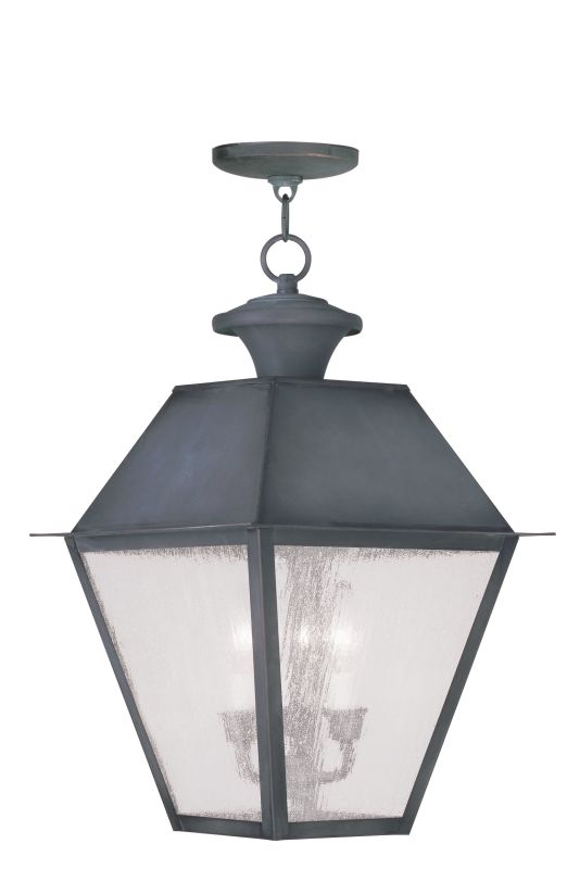 Livex Lighting 2170 Mansfield Outdoor Pendant with 3 Lights Charcoal