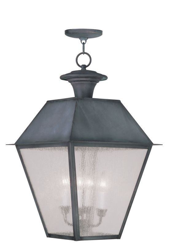 Livex Lighting 2174 Mansfield Outdoor Pendant with 4 Lights Charcoal