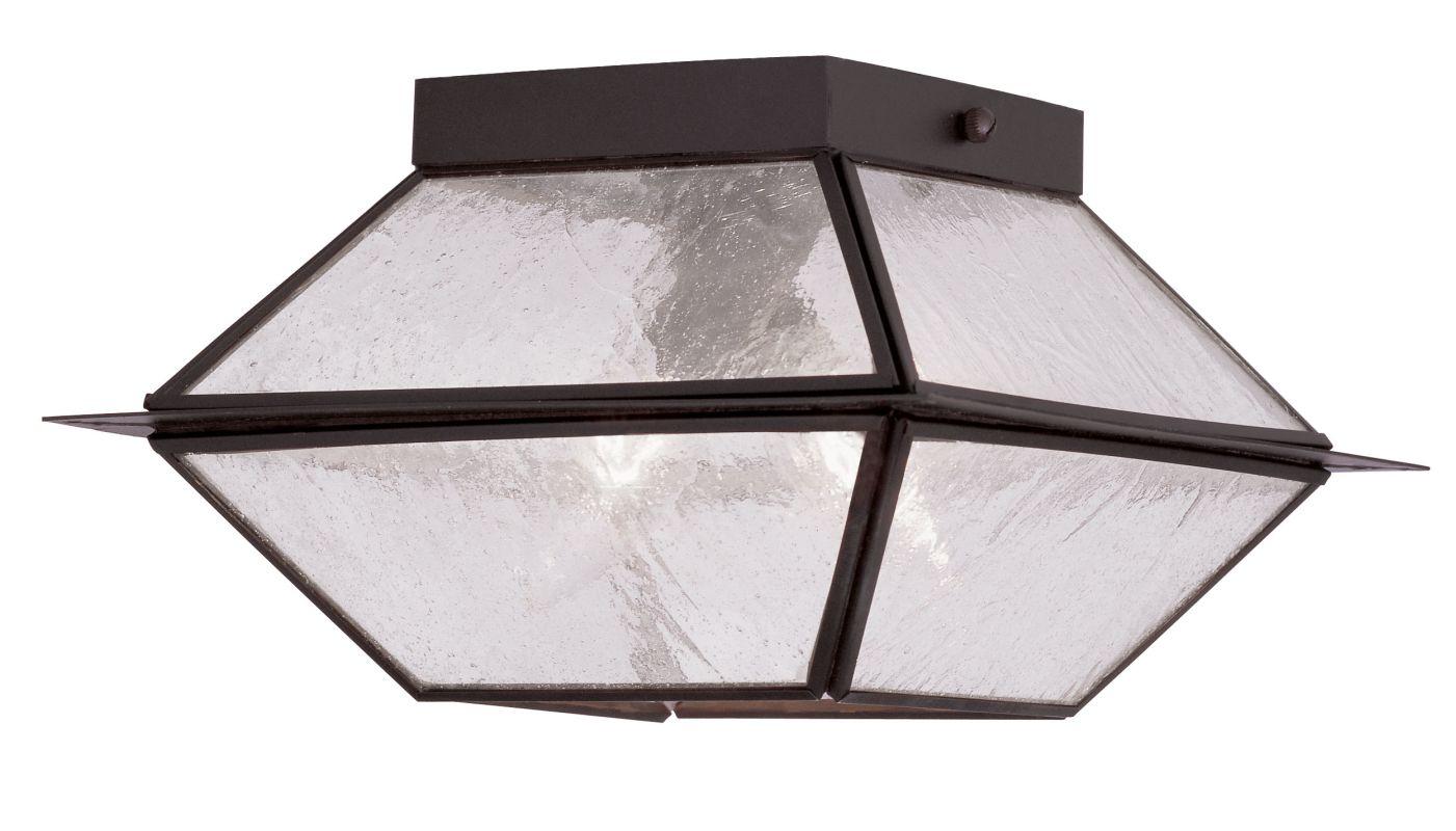 Livex Lighting 2175 Mansfield 2 Light Semi-Flush Outdoor Ceiling Sale $99.98 ITEM: bci2069212 ID#:2175-07 UPC: 847284027732 :