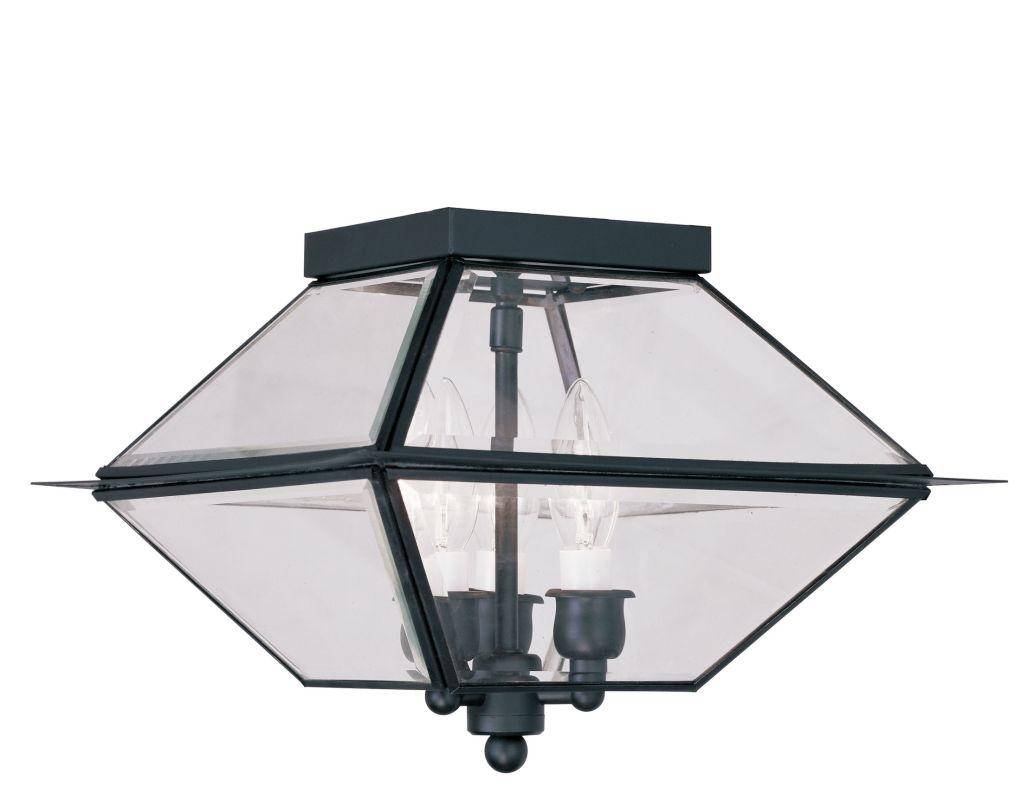 black westover 3 light outdoor semi flush ceiling fixture