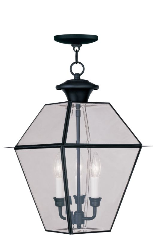 Livex Lighting 2385 Westover Outdoor Pendant with 3 Lights Black