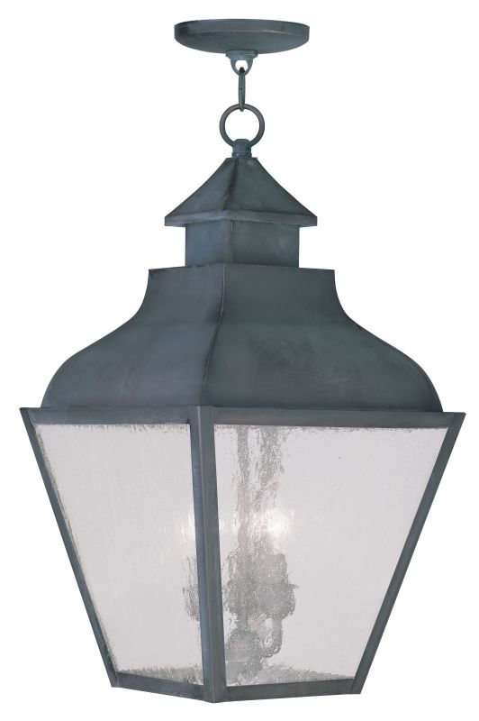 Livex Lighting 2456 Vernon Outdoor Pendant with 3 Lights Charcoal