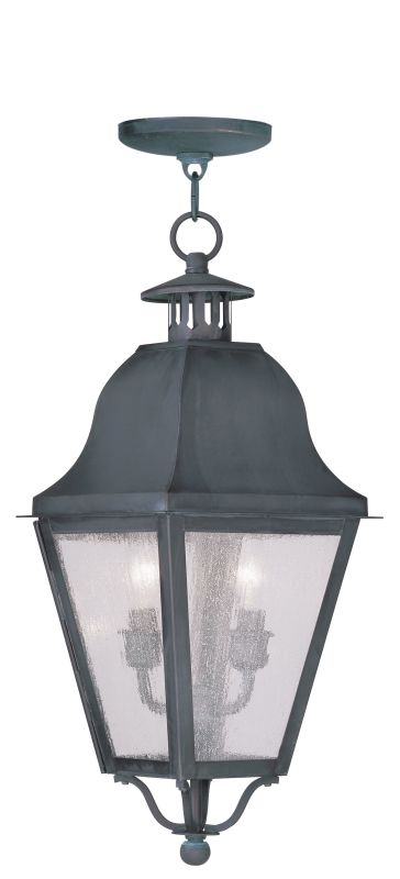 Livex Lighting 2546 Amwell Outdoor Pendant with 2 Lights Charcoal