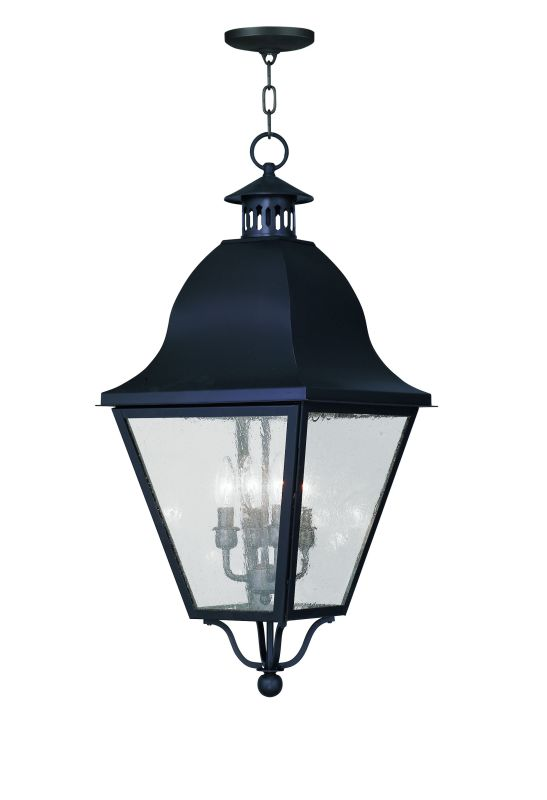 Livex Lighting 2547 Amwell Outdoor Pendant with 4 Lights Black Outdoor
