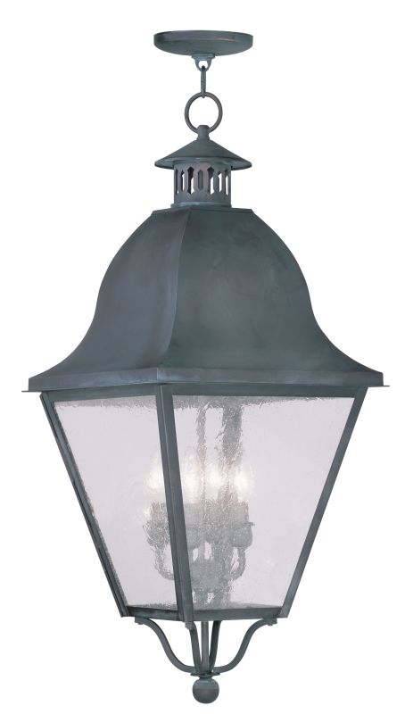 Livex Lighting 2547 Amwell Outdoor Pendant with 4 Lights Charcoal