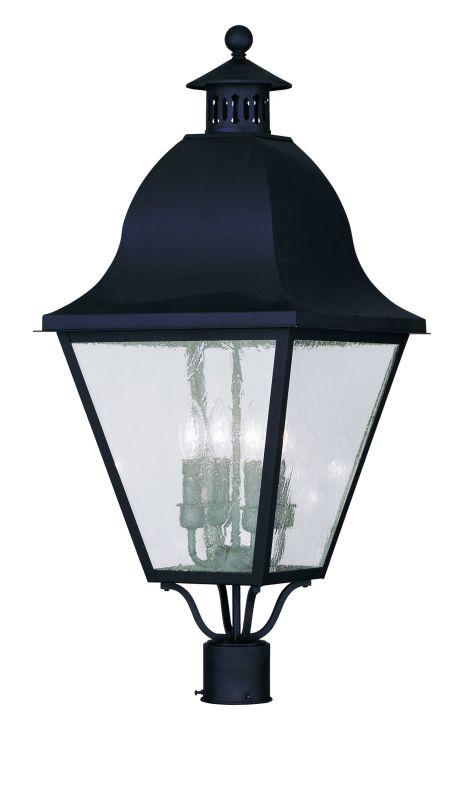 Livex Lighting 2548 Amwell Post Light with 4 Lights Black Outdoor