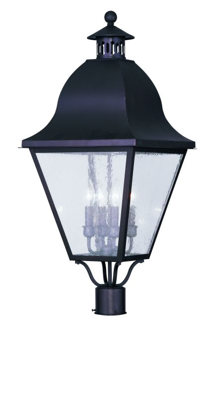 Livex Lighting 2548 Amwell Post Light with 4 Lights Bronze Outdoor Sale $899.90 ITEM: bci1791360 ID#:2548-07 UPC: 847284004252 :