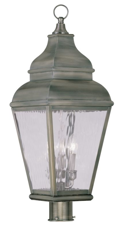 Livex Lighting 2606 Exeter Post Light with 3 Lights Vintage Pewter