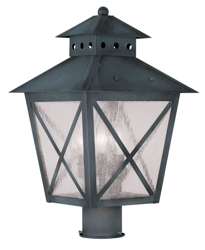 Livex Lighting 2674 Montgomery 18.75 Inch Tall Post Light with 3
