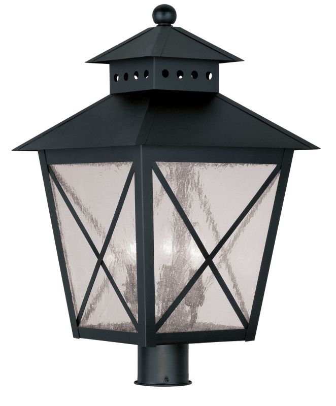 Livex Lighting 2678 Montgomery 22.5 Inch Tall Post Light with 3 Lights