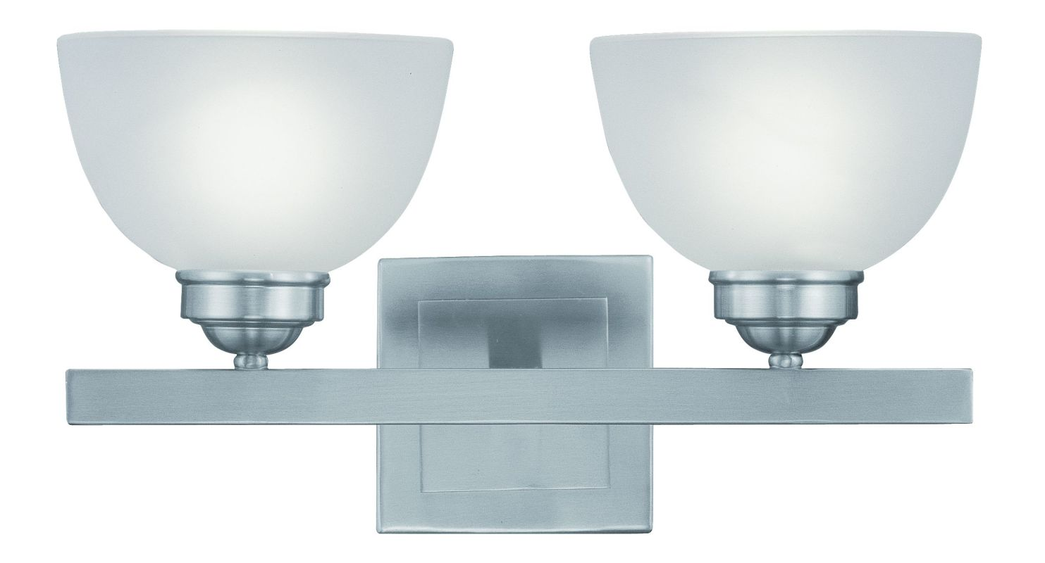"Livex Lighting 4202 2 Light 200 Watt 16"" Wide Bathroom Fixture with"