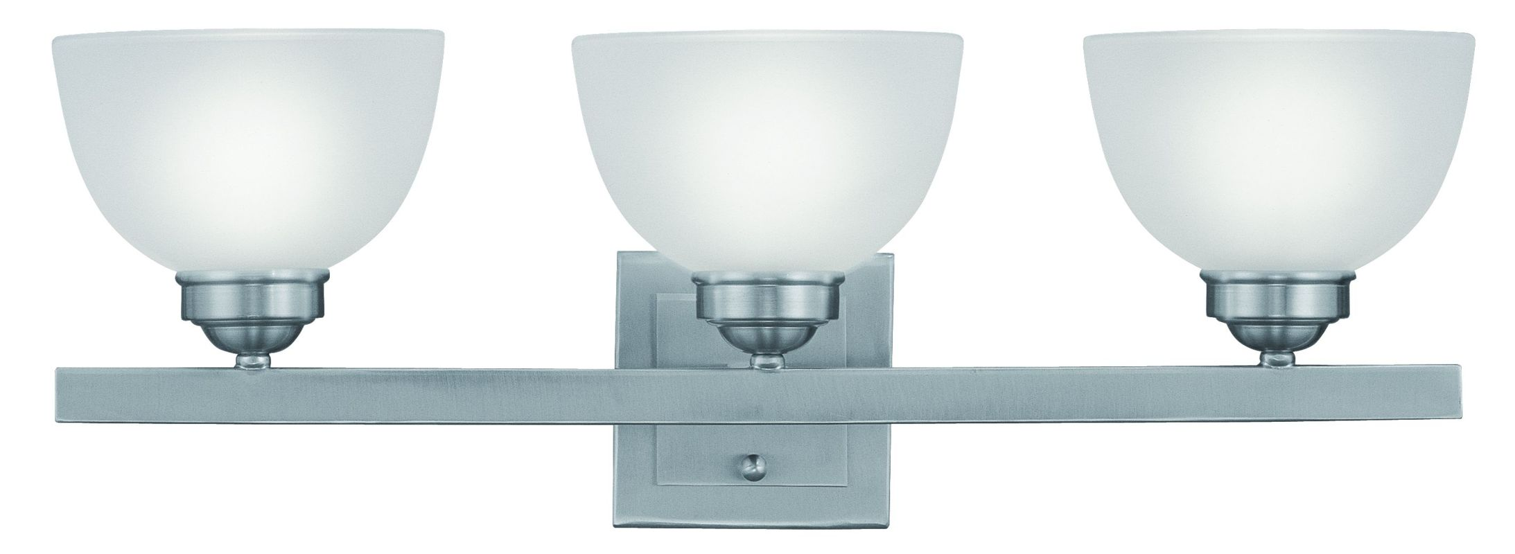 "Livex Lighting 4203 3 Light 300 Watt 24.75"" Wide Bathroom Fixture with"