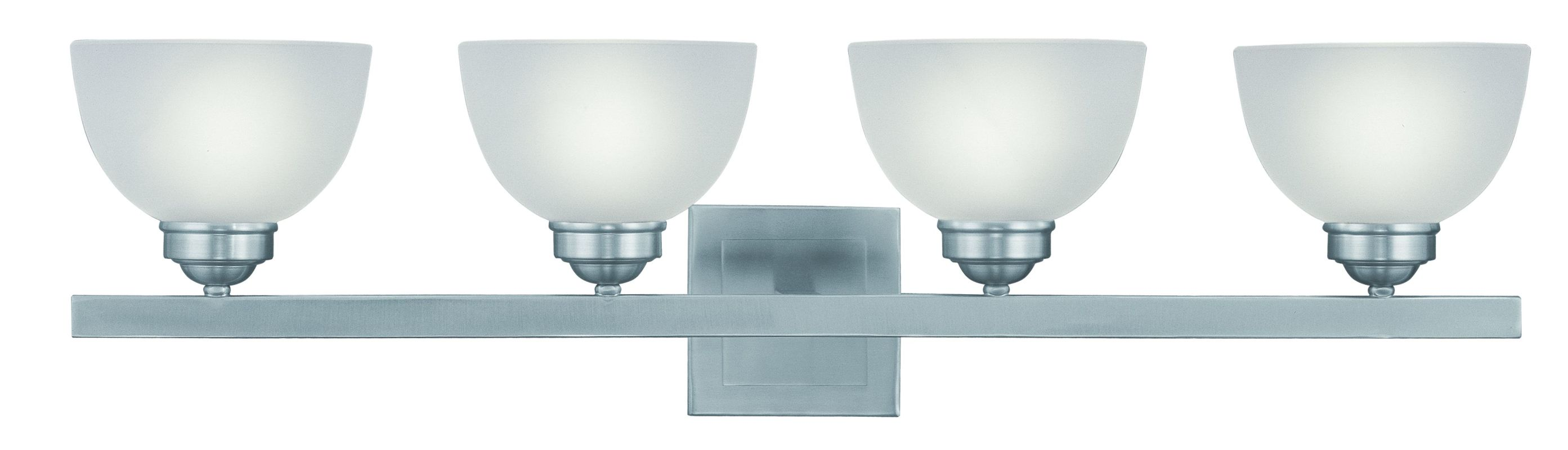 "Livex Lighting 4204 4 Light 400 Watt 33.75"" Wide Bathroom Fixture with"