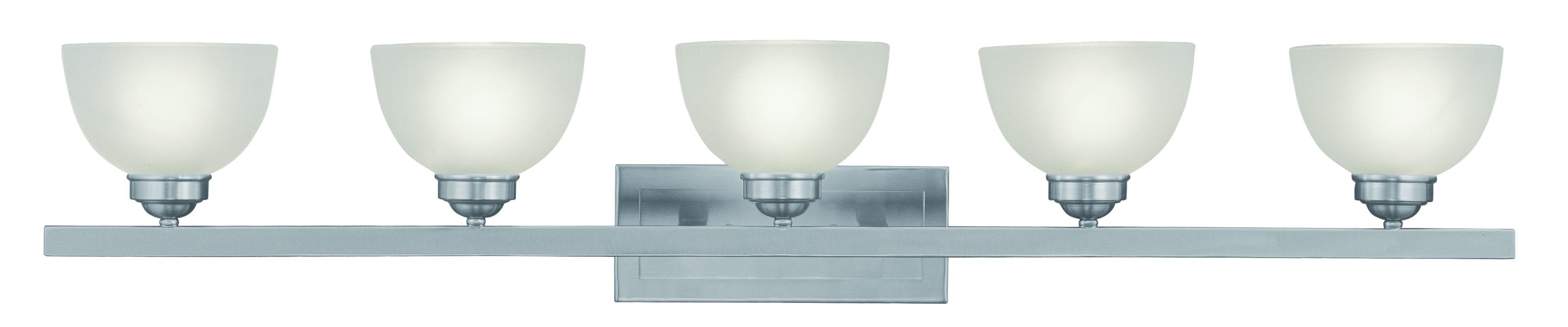 "Livex Lighting 4205 5 Light 500 Watt 48"" Wide Bathroom Fixture with"