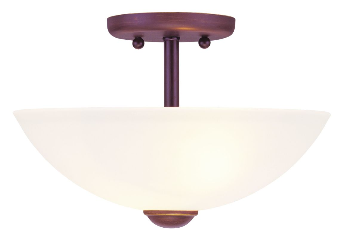 Livex Lighting 4209-LQ 2 Light 200 Watt Semi-Flush Mount Ceiling