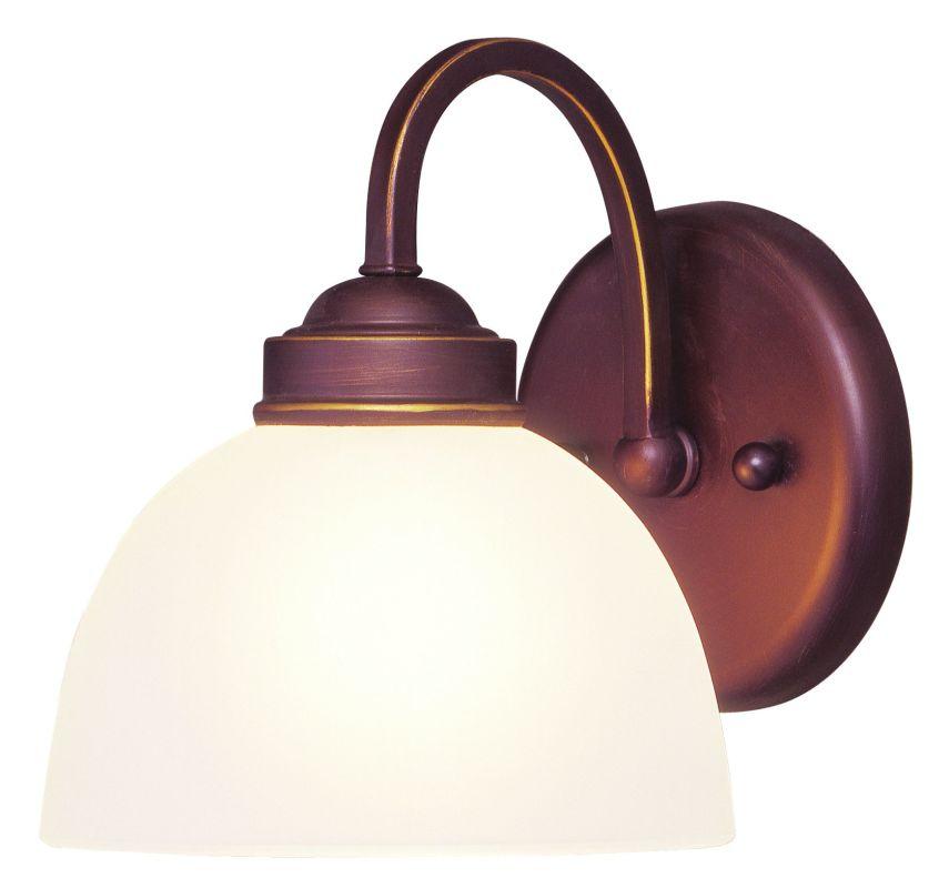 """Livex Lighting 4231 1 Light 100 Watt 6.5"""" Wide Bathroom Fixture with"""