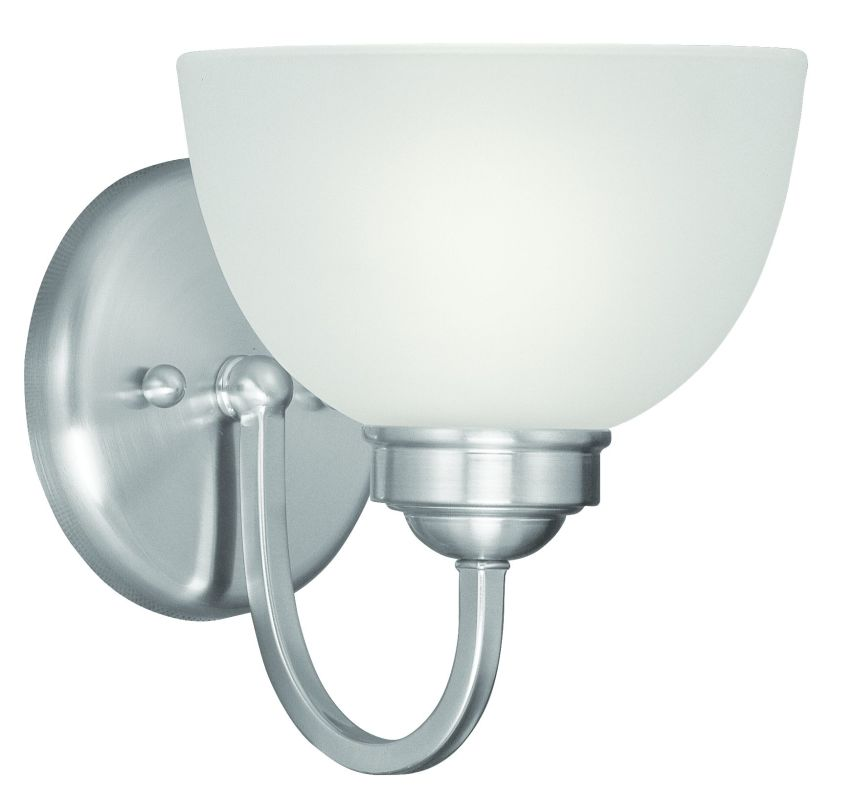 "Livex Lighting 4231 1 Light 100 Watt 6.5"" Wide Bathroom Fixture with"