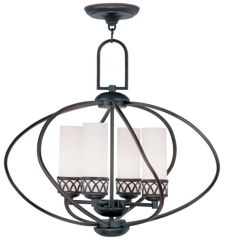 Livex Lighting 4724 Westfield Up Lighting 1 Tier Chandelier with 4