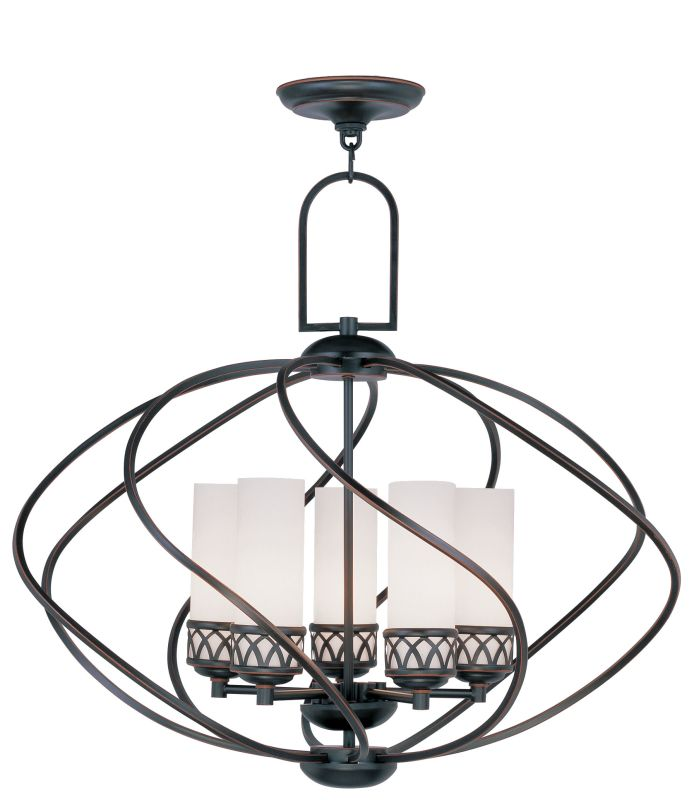 Livex Lighting 4725 Westfield 5 Light 1 Tier Chandelier Olde Bronze