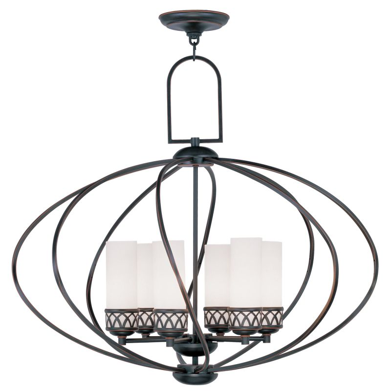 Livex Lighting 4726 Westfield Up Lighting 1 Tier Chandelier with 6