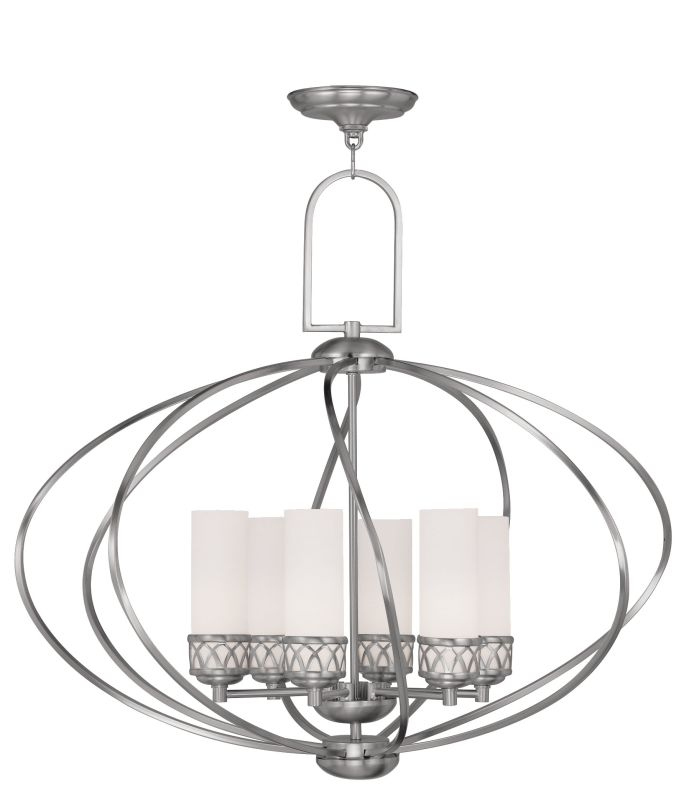 Livex Lighting 4726 Westfield Up Lighting 1 Tier Chandelier with 6 Sale $599.90 ITEM: bci2069425 ID#:4726-91 UPC: 847284029958 :