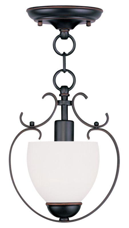 Livex Lighting 4760 Brookside 11 Inch Tall Mini Pendant with 1 Light