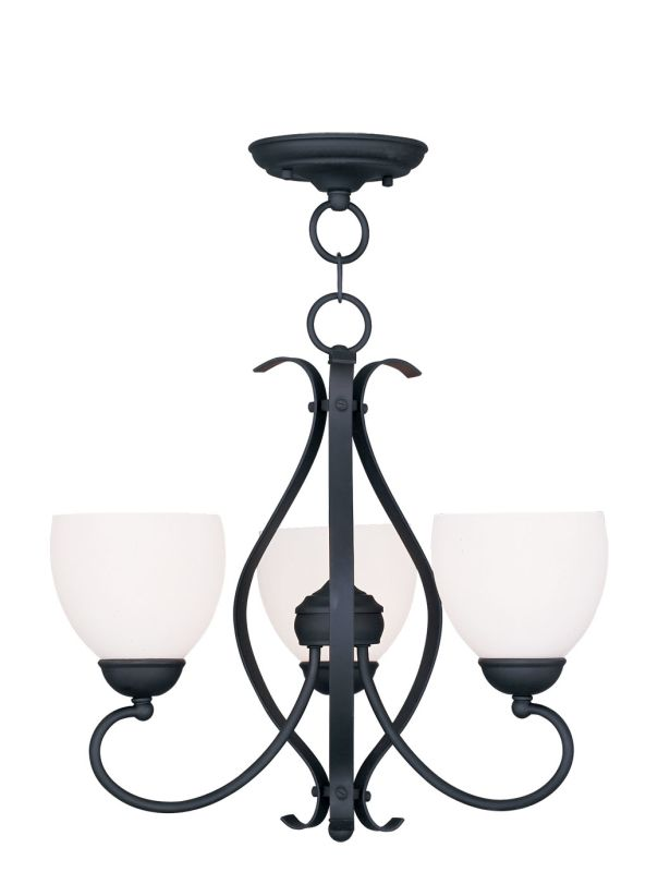Livex Lighting 4763 Brookside 17.25 Inch Tall Up Chandelier with 3