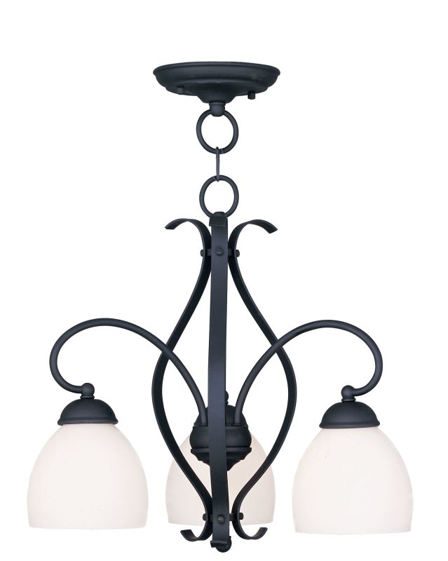 Livex Lighting 4773 Brookside 17.25 Inch Tall Down Chandelier with 3