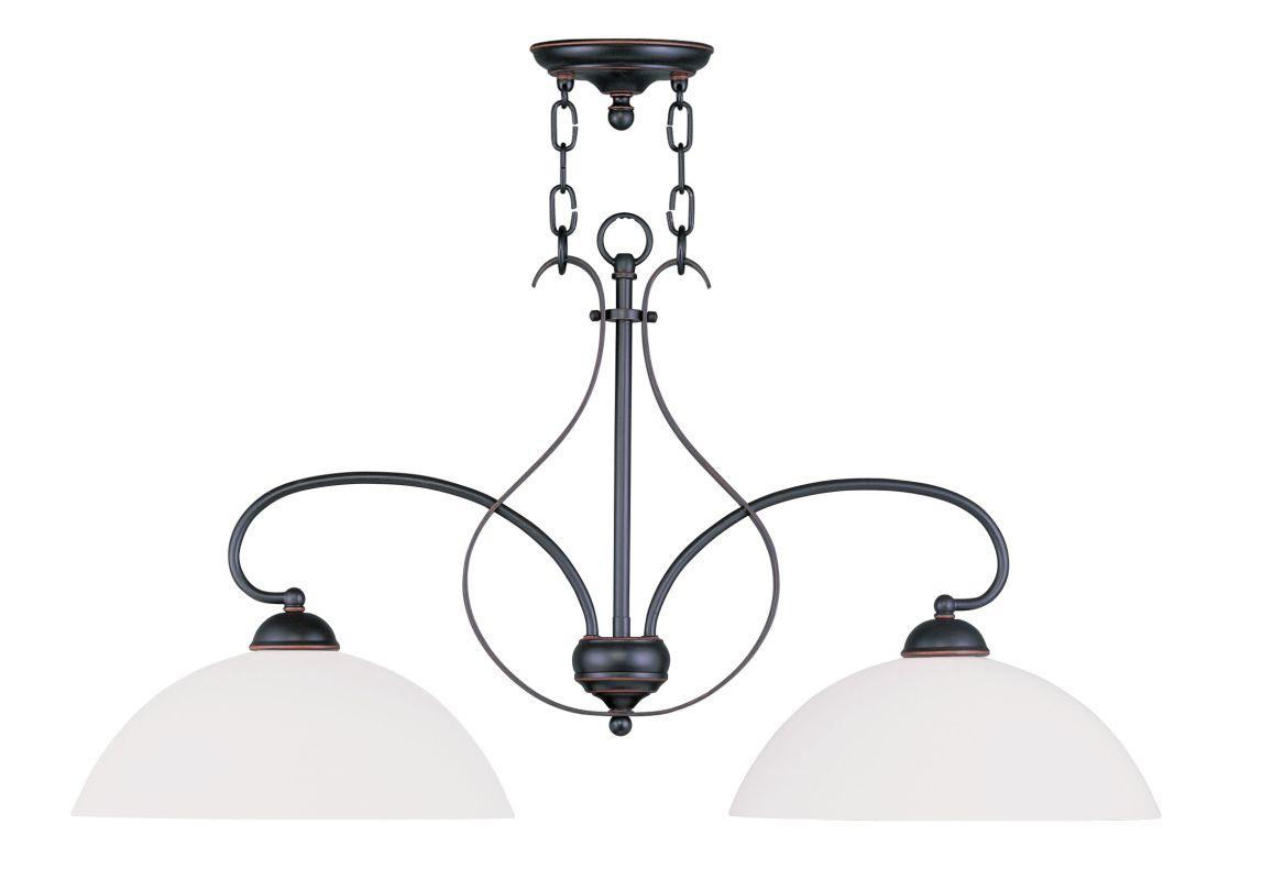 Livex Lighting 4782 Brookside Island / Billiard Fixture with 2 Lights Sale $279.90 ITEM: bci2069463 ID#:4782-67 UPC: 847284030459 :