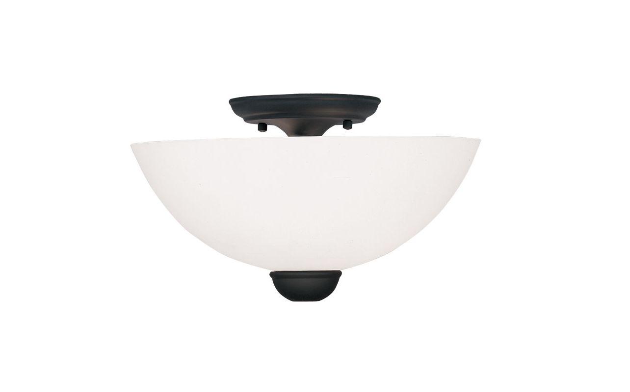 Livex Lighting 4792 Brookside 7 Inch Tall Semi-Flush Ceiling Fixture