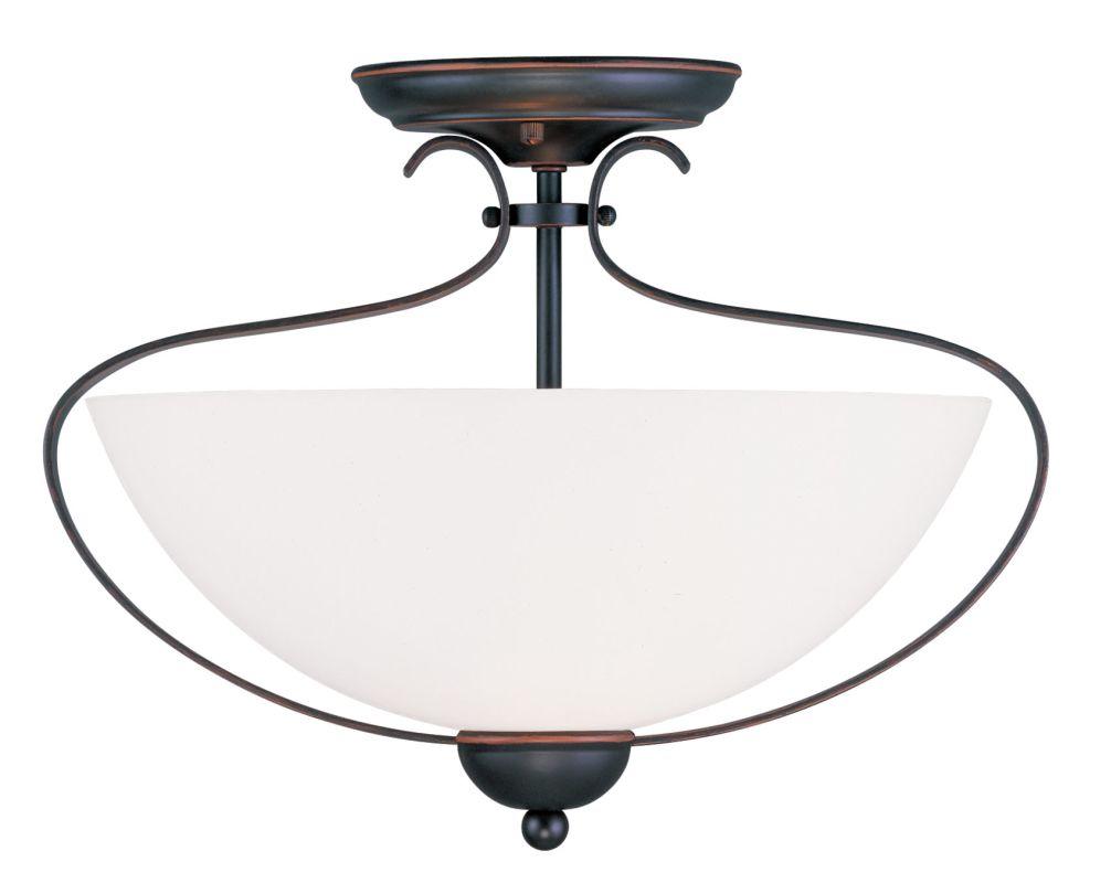 Livex Lighting 4798 Brookside 11.5 Inch Tall Semi-Flush Ceiling