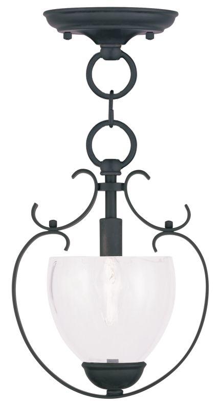Livex Lighting 4800 Brookside Mini Pendant with 1 Light Black Indoor