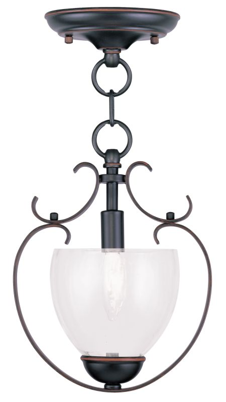 Livex Lighting 4800 Brookside Mini Pendant with 1 Light Olde Bronze Sale $119.90 ITEM: bci2069475 ID#:4800-67 UPC: 847284030572 :