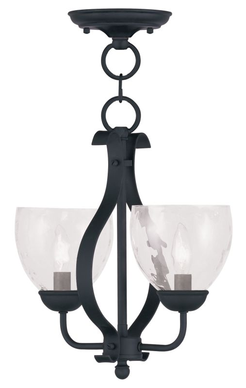 Livex Lighting 4804 Brookside Pendant with 2 Lights Black Indoor