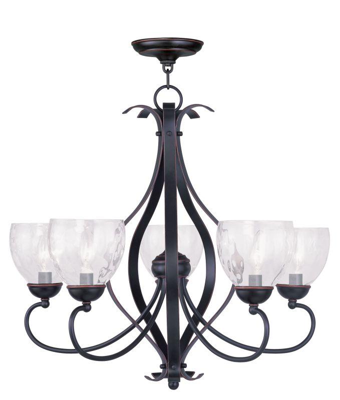Livex Lighting 4805 Brookside Clear Water Glass Up Lighting 1 Tier