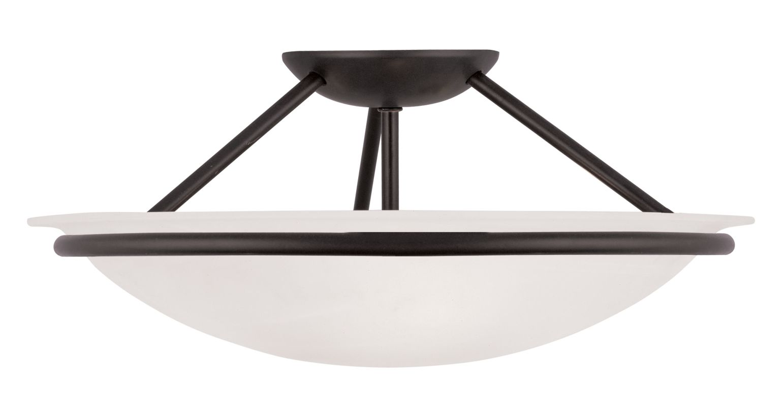 Livex Lighting 4824 Newburgh 7 Inch Tall Semi-Flush Ceiling Fixture