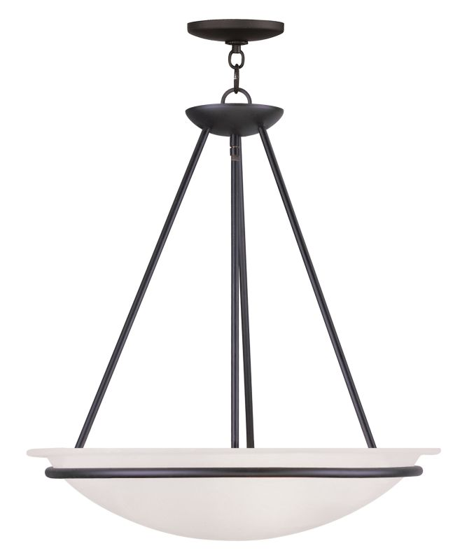 Livex Lighting 4826 Newburgh Bowl Pendant with 3 Lights Black Indoor Sale $279.90 ITEM: bci2069498 ID#:4826-04 UPC: 847284029286 :