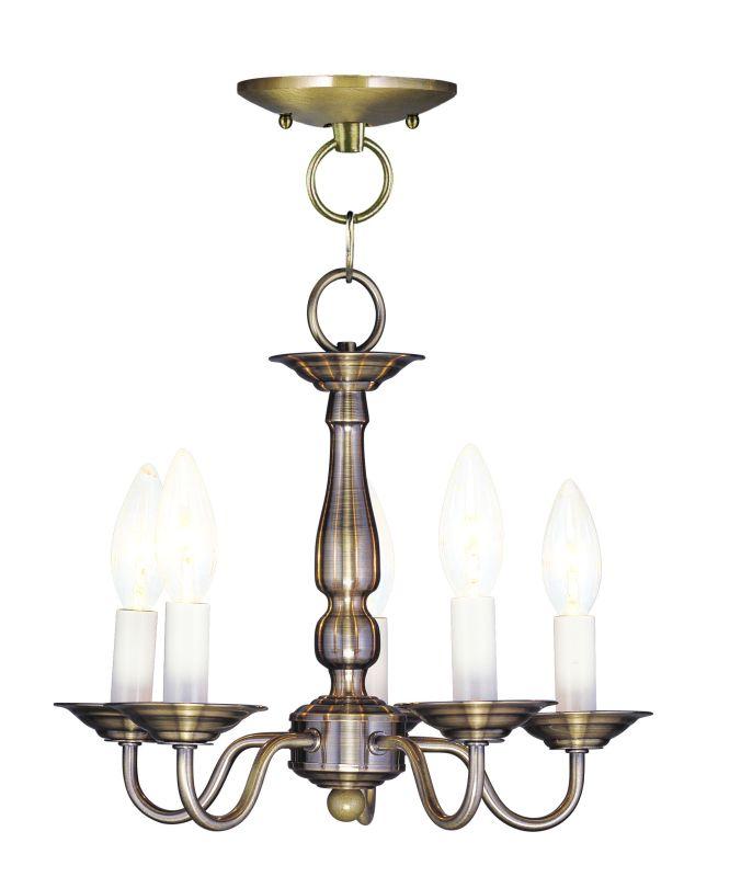 Livex Lighting 5011 Williamsburg Convertible 5 Light Single Tier Sale $139.90 ITEM: bci1791458 ID#:5011-01 UPC: 847284005440 :