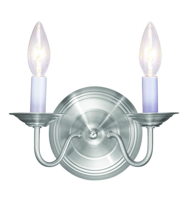 "Livex Lighting 5018 2 Light 120 Watt 10"" Wide Wallchiere Sconce from"