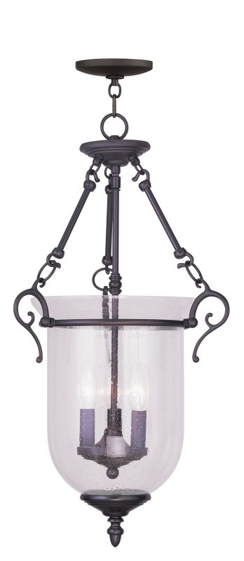 Livex Lighting 5025 Legacy 3 Light Pendant Bronze Indoor Lighting