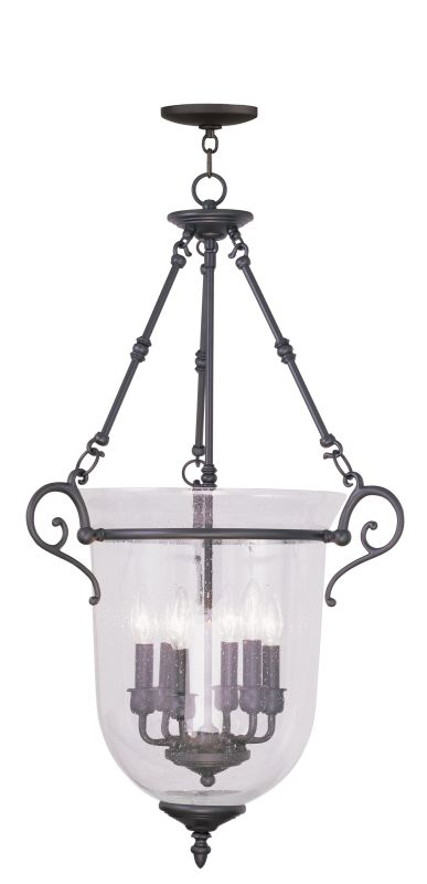 Livex Lighting 5026 Legacy 6 Light Pendant Bronze Indoor Lighting