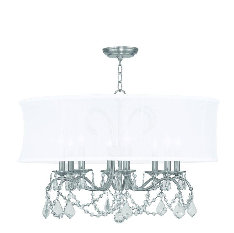 Livex Lighting 6308 8 Light 480 Watt Chandelier with Off White Silk Sale $799.90 ITEM: bci1791499 ID#:6308-91 UPC: 847284005983 :