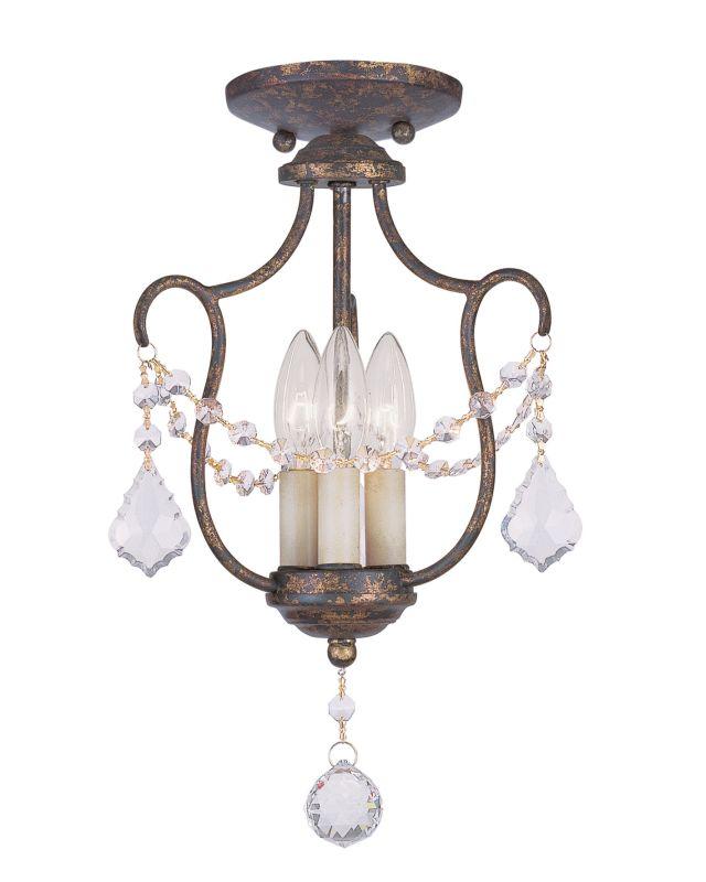 Livex Lighting 6420 Chesterfield 3 Light Pendant Venetian Golden