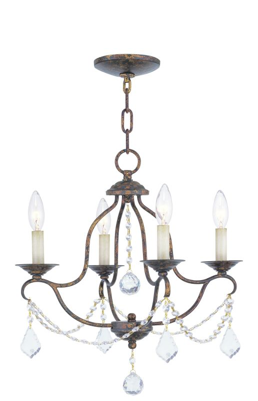 Livex Lighting 6424 Chesterfield 4 Light 1 Tier Chandelier with Sale $259.90 ITEM: bci1791507 ID#:6424-71 UPC: 847284006065 :