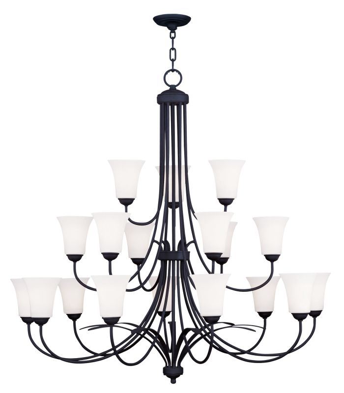 Livex Lighting 6479 Ridgedale Up Lighting 3 Tier Chandelier with 18