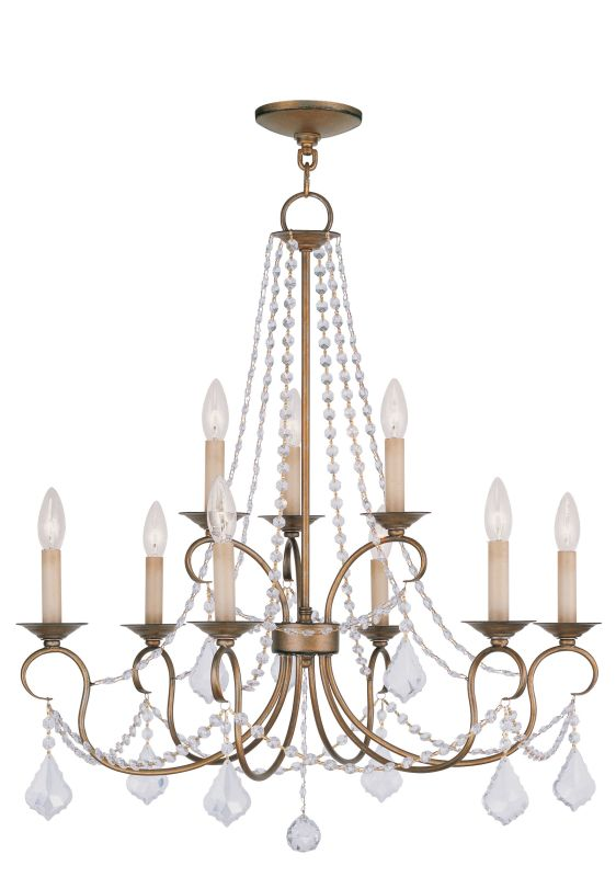 Livex Lighting 6519 Pennington 9 Light 2 Tier Chandelier with Crystal Sale $539.90 ITEM: bci2069687 ID#:6519-48 UPC: 847284026391 :