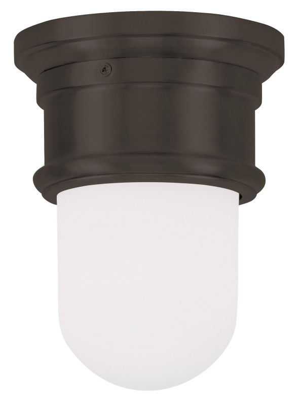Livex Lighting 7340 8.5 Inch Tall Flush Mount Ceiling Fixture with 1