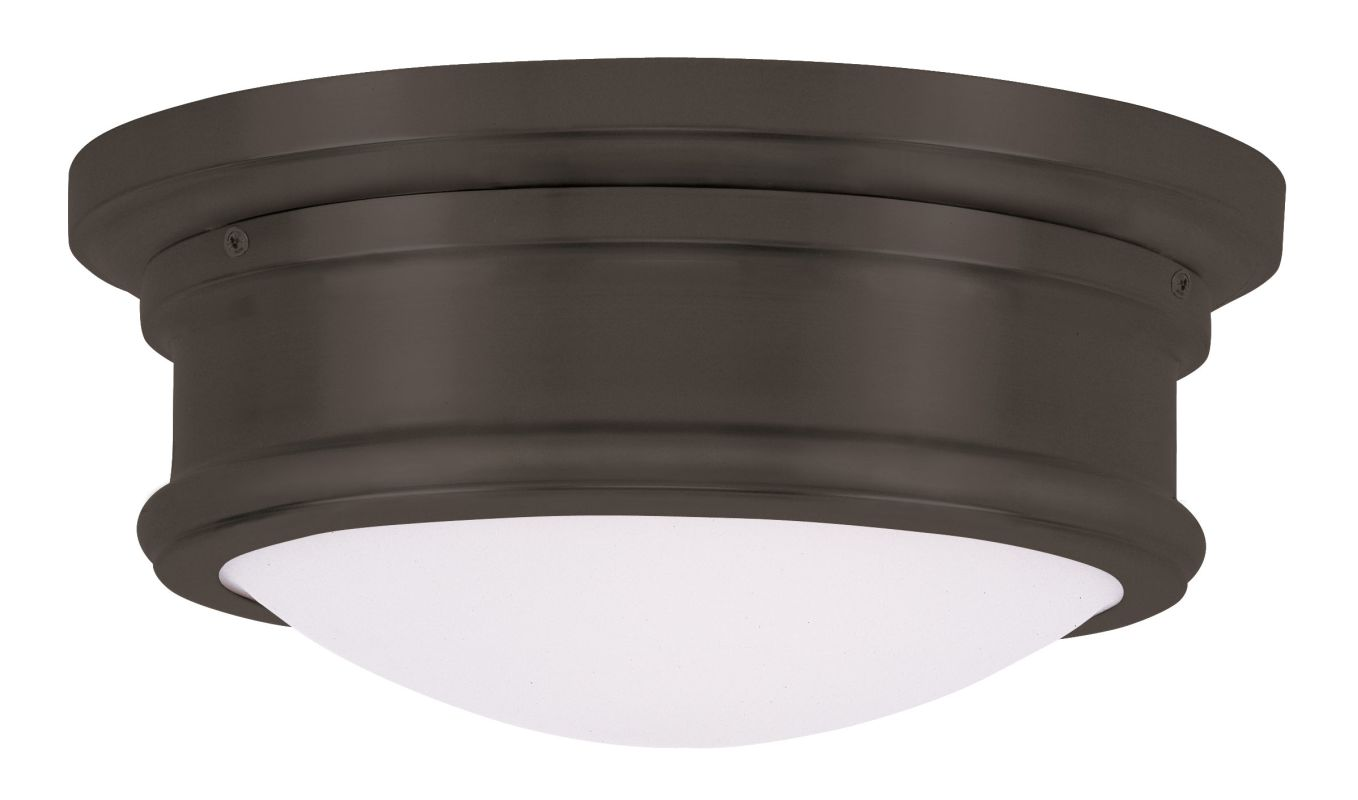 Livex Lighting 7341 4.5 Inch Tall Flush Mount Ceiling Fixture with 2